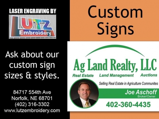 Laser Engraving Custom Signs Lutz Embroidery - Engraving Norfolk, Nebraska